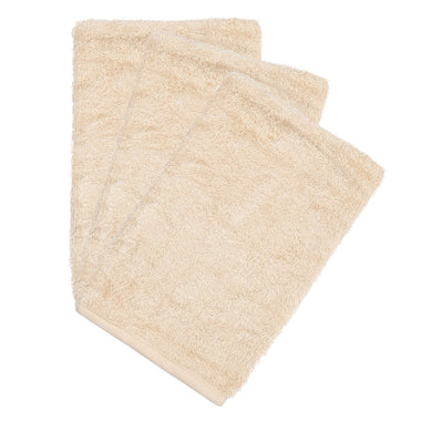 Timboo set 3 bamboo washandjes | Frosted Almond