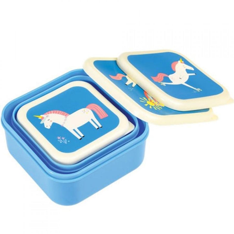Set 3 snack boxen Unicorn