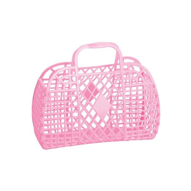 Sunjellies Retro Basket Small - Bubblegum Pink