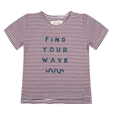 Little Indians T-shirt Find Your Wave | Purpe Stripe