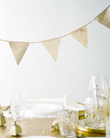 Talking Tables Vlaggenslinger Gold Glitter