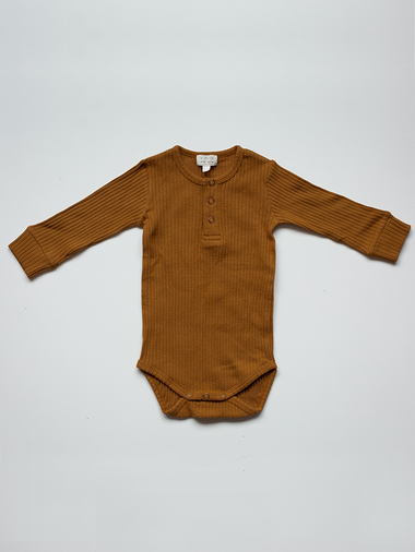 The Simple Folk The Ribbed Onesie | Bronze