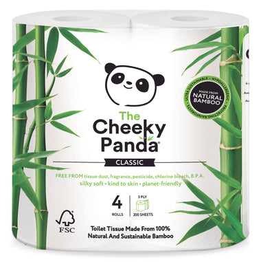 The Cheeky Panda Toiletpapier | Pak 4 rollen