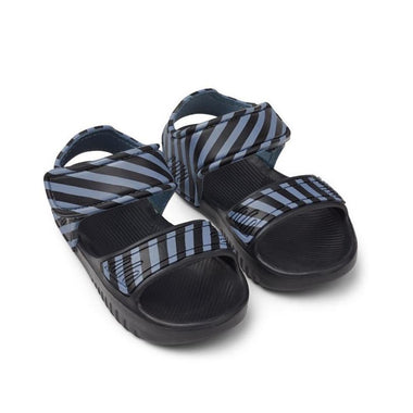 Liewood Blumer Sandalen | Stripe Blue Wave / Black