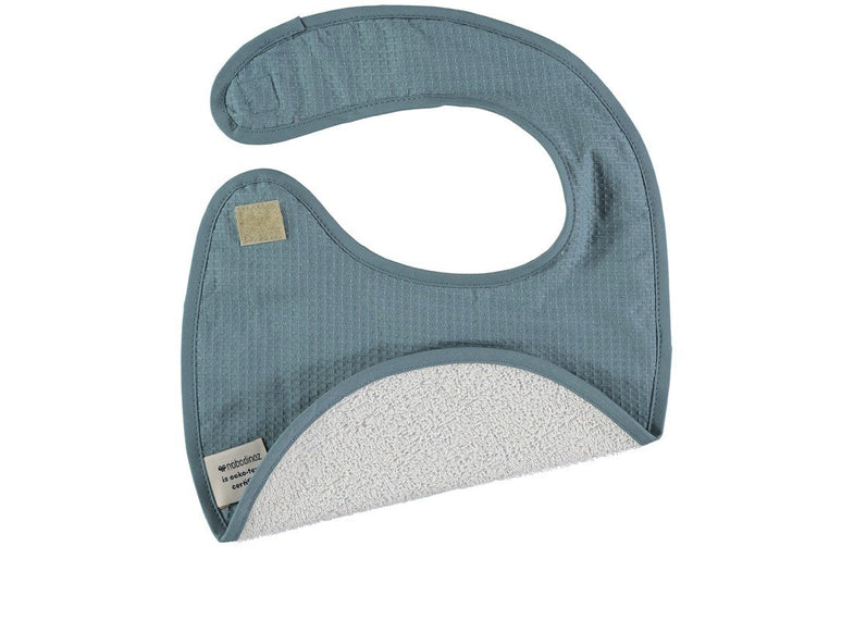 Nobodinoz slab Candy bib Honeycomb - Night Blue - DE GELE FLAMINGO - Kids concept store