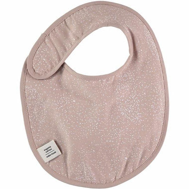 Nobodinoz slab Candy bib - White bubble/misty pink