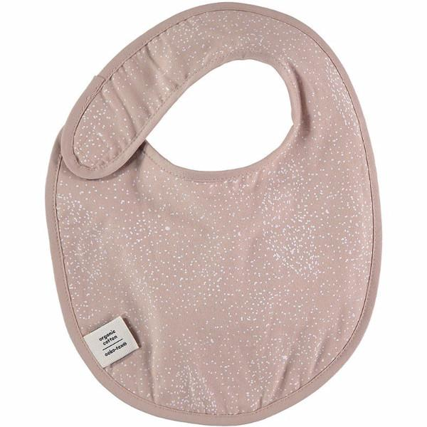 Nobodinoz slab Candy bib - White bubble/misty pink - DE GELE FLAMINGO - Kids concept store