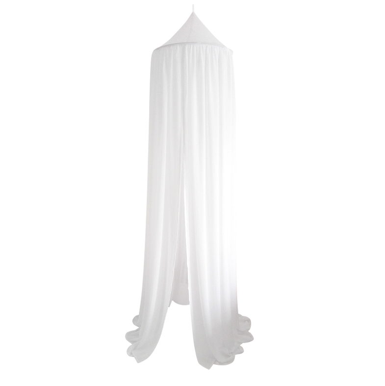 Cotton & Sweets Klamboo 235cm voile White - DE GELE FLAMINGO - Kids concept store