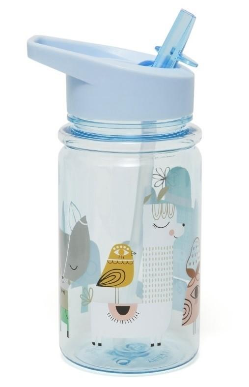 Petit Monkey drinkfles Lama & Friends Blue - DE GELE FLAMINGO - Kids concept store