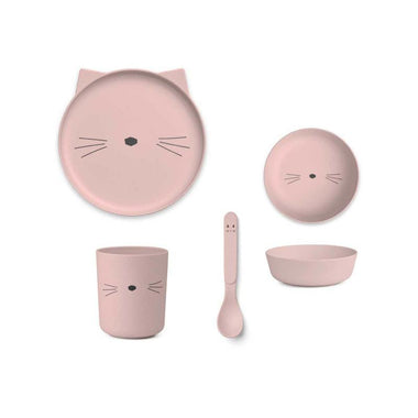 Liewood Bamboo Box Eetset Cat | Rose
