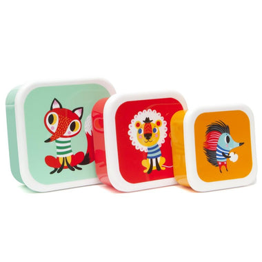 Petit Monkey set 3 snack boxen Animals