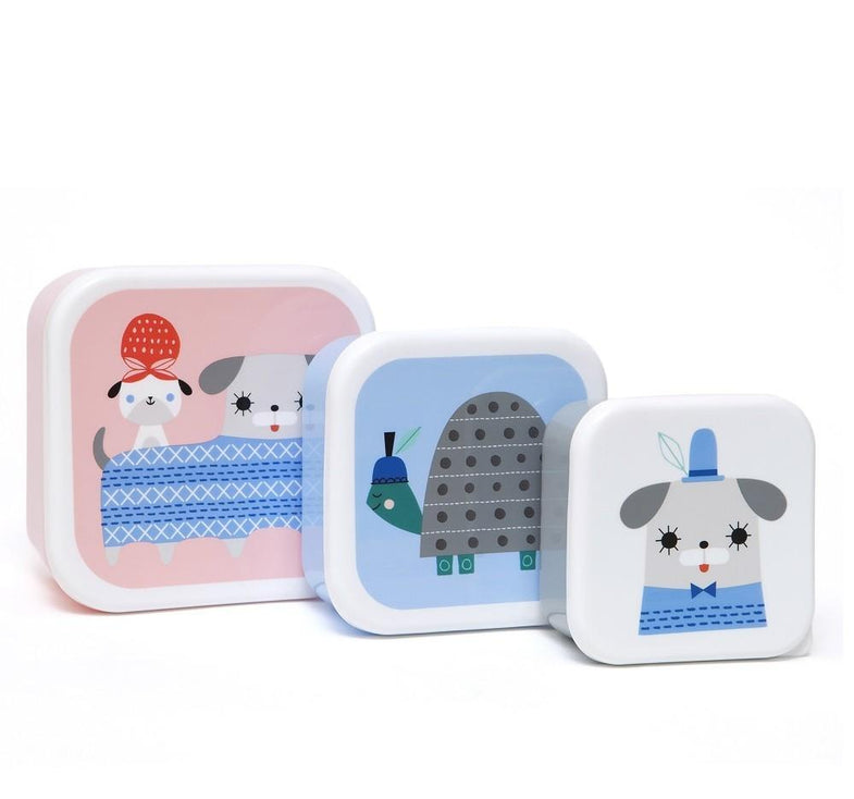 Petit Monkey set 3 snack boxen Peanut & Co - DE GELE FLAMINGO - Kids concept store