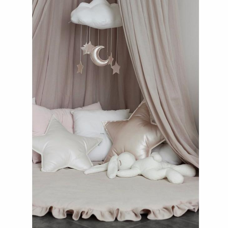 Cotton & Sweets speeltapijt met ruches 120cm Dusty Pink - DE GELE FLAMINGO - Kids concept store