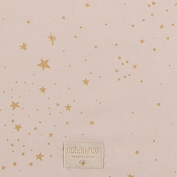 Nobodinoz speeltapijt Colorado vierkant 100cm - Gold Stella/ Dream Pink
