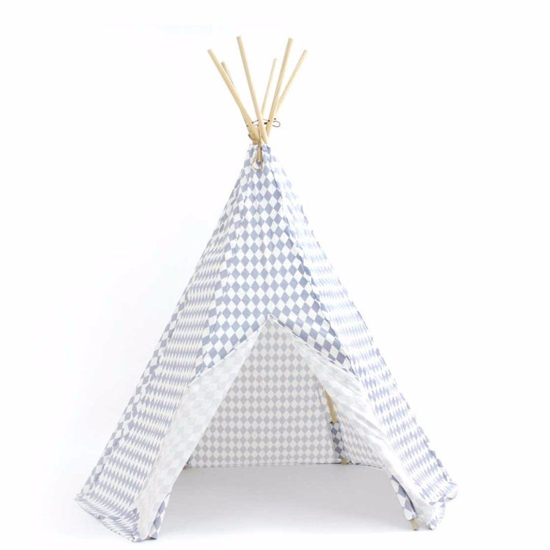Nobodinoz tipi large Blue diamonds - DE GELE FLAMINGO - 1