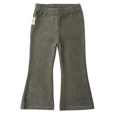 Little Indians Flared Pants | Corduroy Green