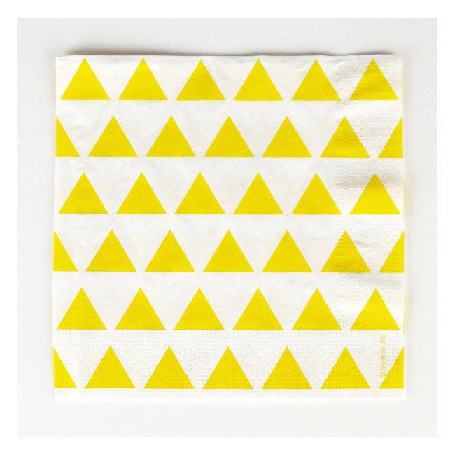 Set 8 kartonnen bordjes yellow triangles - DE GELE FLAMINGO - 4