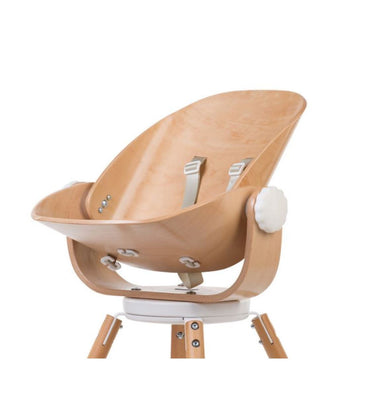 Childhome EVOLU - Wood Rock newborn seat naturel - white