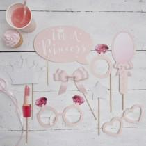 Set PHOTO BOOTH PROPS - Princess - DE GELE FLAMINGO - Kids concept store