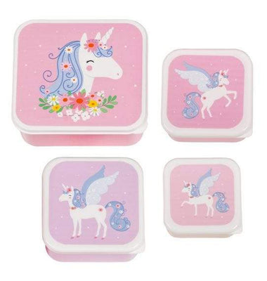 A Little Lovely Company Lunch & Snack Box Set | Unicorn