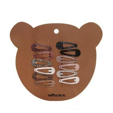 VanPauline set 12 Haarspeldjes Mini Brown