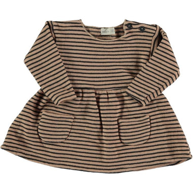 Bean's Ant Striped Dress | Nude