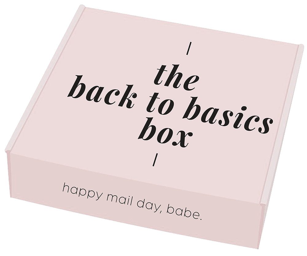 "the ""back to basics"" box"