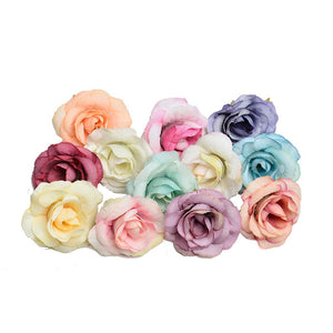 Colorful Artificial Flowers Rose Head - Hansel & Gretel Home Decor