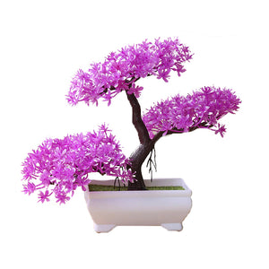 Violet Artificial Bonsai Plant - Hansel & Gretel Home Decor
