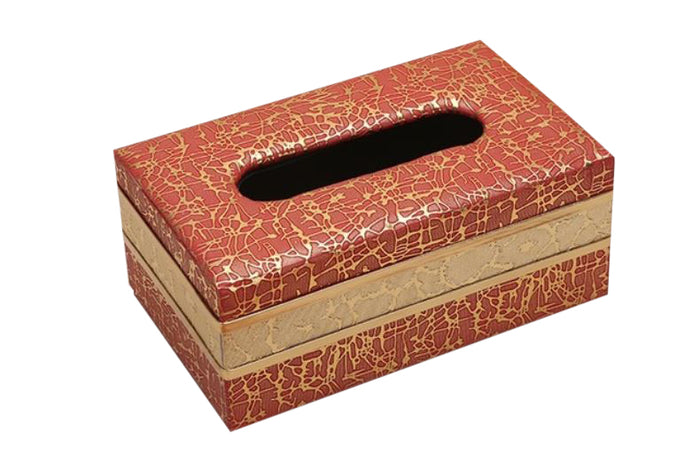 European Wood and Leather Tissue Holder