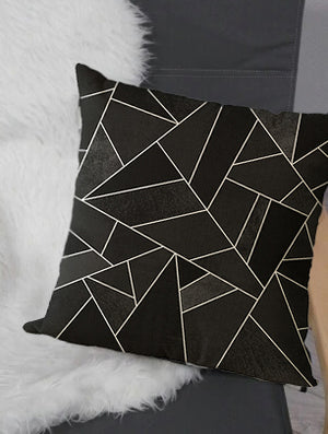 Simple Patterned Black Decorative Pillow Case - Hansel & Gretel Home Decor