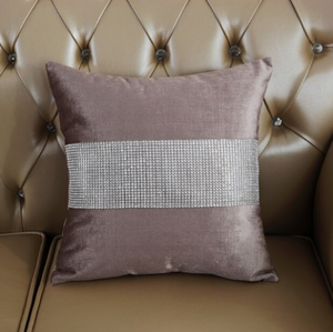 Diamond Fabric Brown Decorative Pillow Case - Hansel & Gretel Home Decor