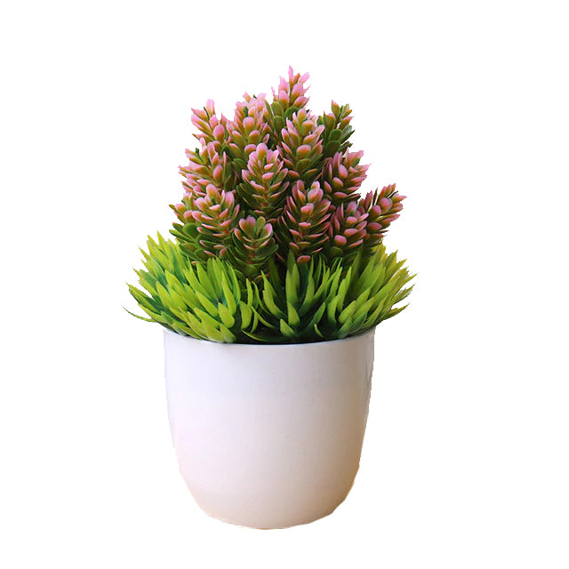 Pink and Green Artificial Bonsai Plant
