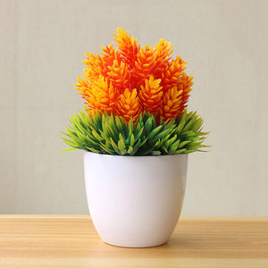 Orange and Green Artificial Bonsai Plant - Hansel & Gretel Home Decor