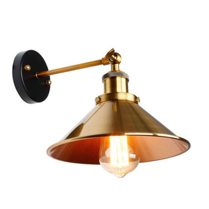 Birmingham Retro Gold Wall Lamp - Hansel & Gretel Home Decor