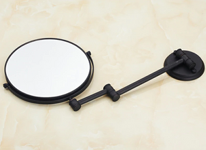Decorative Ornamental Sculpture Magnifier Bathroom Mirror