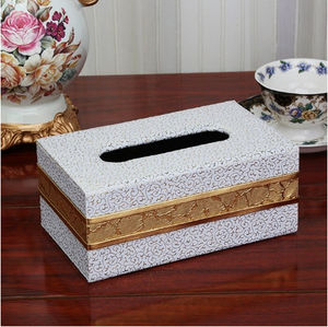 European Wood and Leather Tissue Holder - Hansel & Gretel Home Decor
