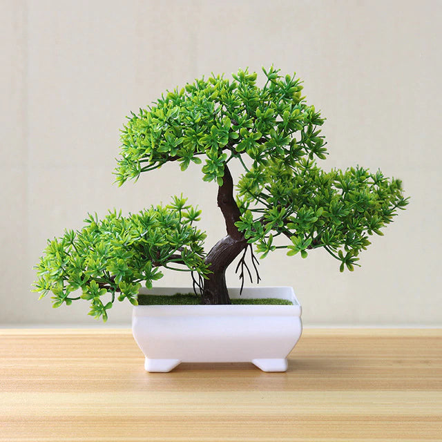 Green Artificial Bonsai Plant - Hansel & Gretel Home Decor