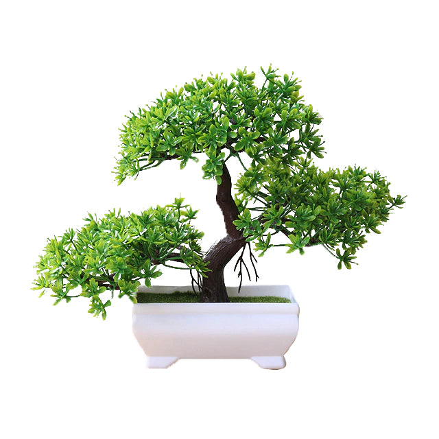 Green Artificial Bonsai Plant