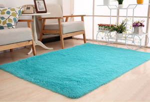 Cyan Shaggy Super Soft Carpet - Hansel & Gretel Home Decor