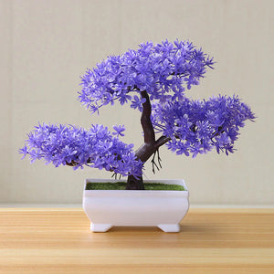 Purple Artificial Bonsai Plants - Hansel & Gretel Home Decor