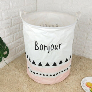 Modern Linen Folding Laundry Basket - Hansel & Gretel Home Decor