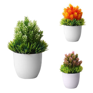 Orange and Green Artificial Bonsai Plant