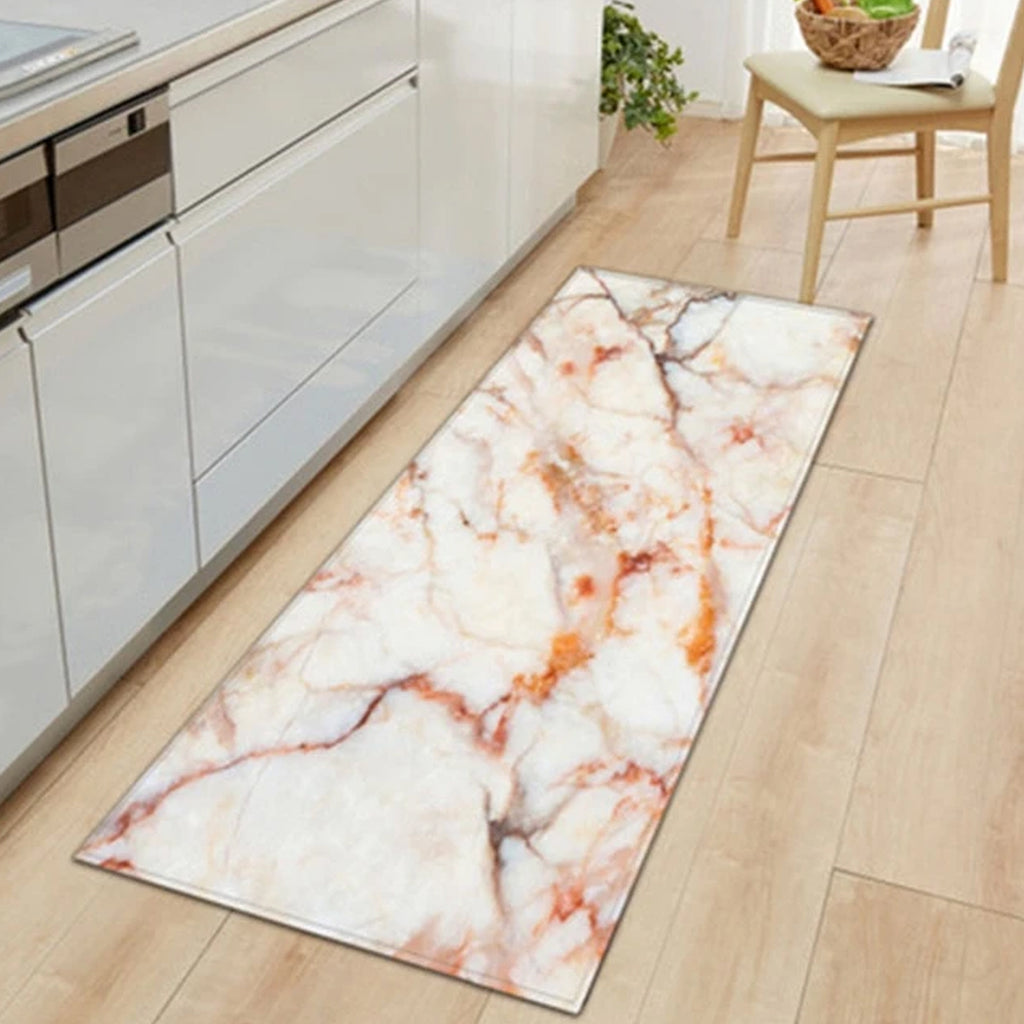 Orange Kitchen Area Carpet - Hansel & Gretel Home Decor