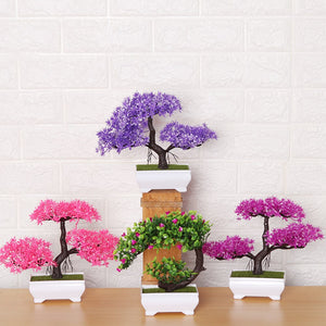 Purple Artificial Bonsai Plants