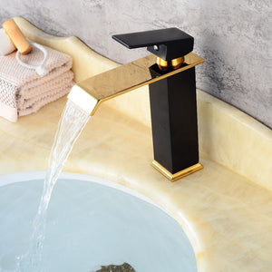 Ceramic Black Waterfall Faucet Hot and Cold Mixer - Hansel & Gretel Home Decor