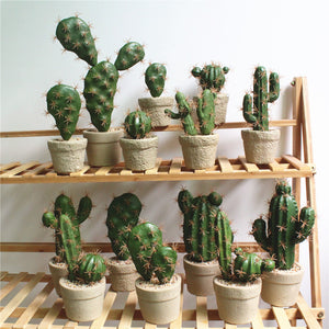 Green Artificial Succulent Cactus Plant - Hansel & Gretel Home Decor