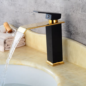 Ceramic Black Waterfall Faucet Hot and Cold Mixer
