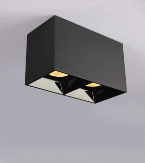 Modern Black Cube Ceiling Light