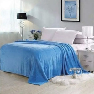 Polyester Blue Blanket - Hansel & Gretel Home Decor